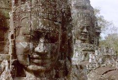 Angkor, Bayon, smiling faces